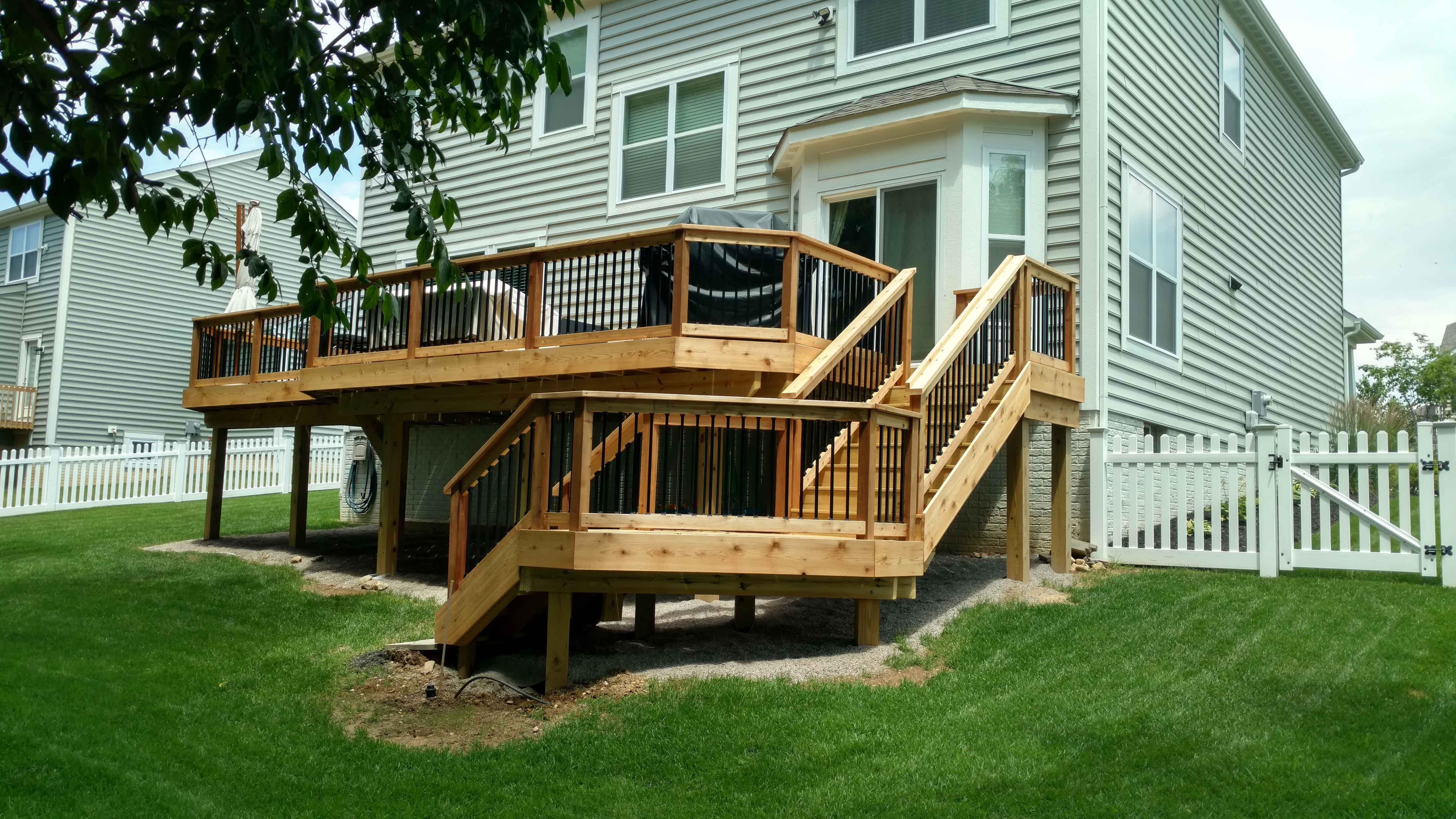 Impressive Wooden Deck