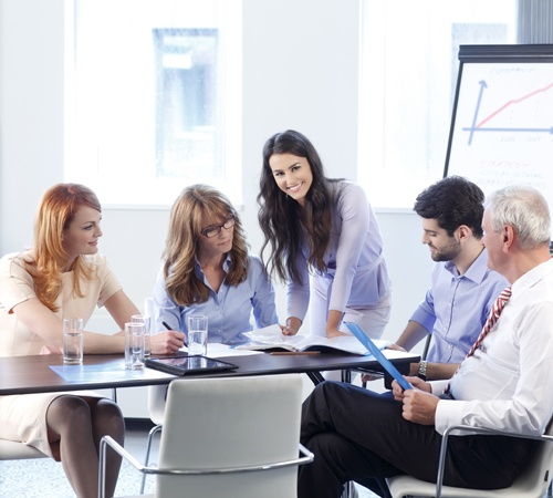 Business People Discussing in a Meeting
