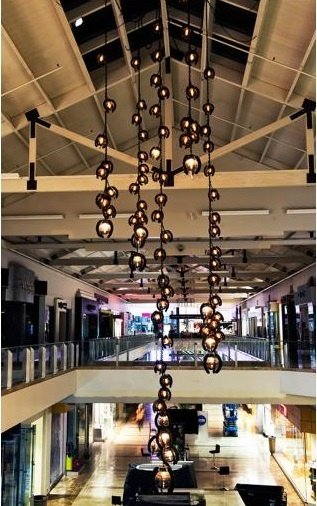 Westfield Mall San Diego - Collaboration with James deWulf Falling Flowers Lighting