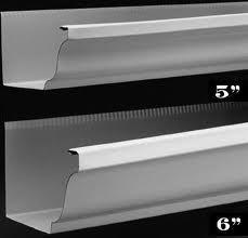 5 inch and 6 inch gutter examples: