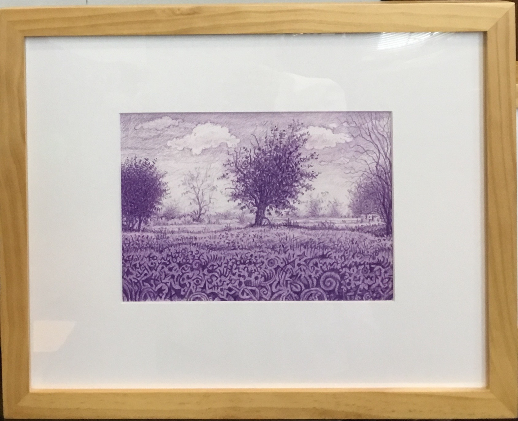 "Purple Pasture pencil 8"" X 6"" $375."