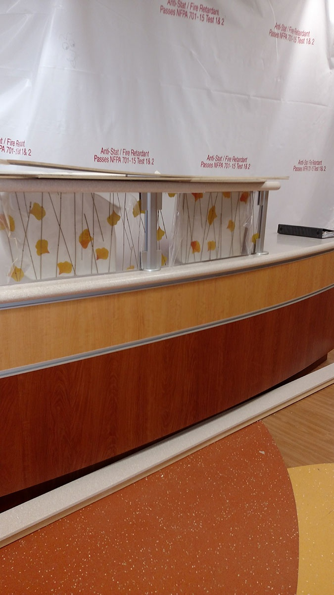 Elegant Reception Countertop