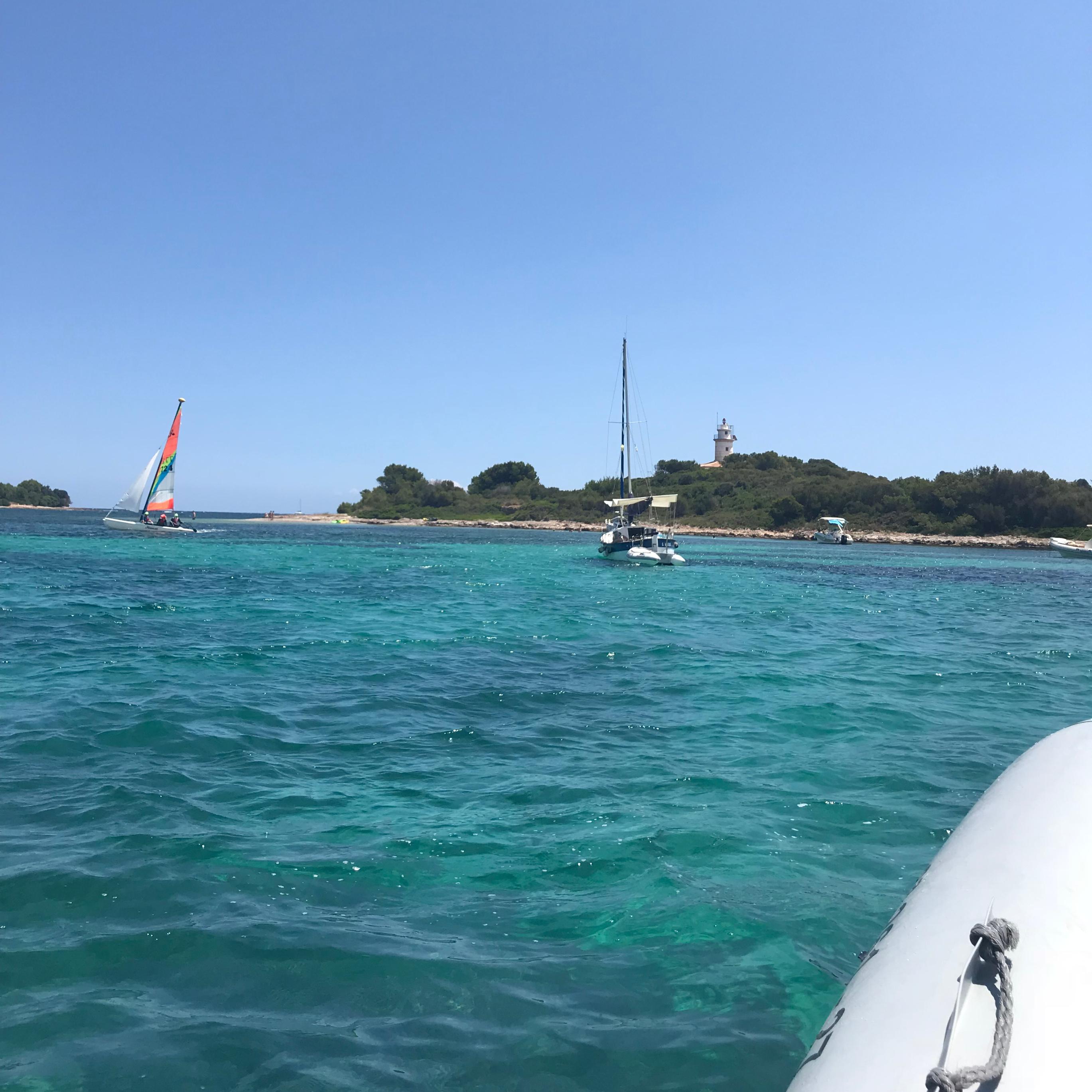 Going for a swim off Mallorca