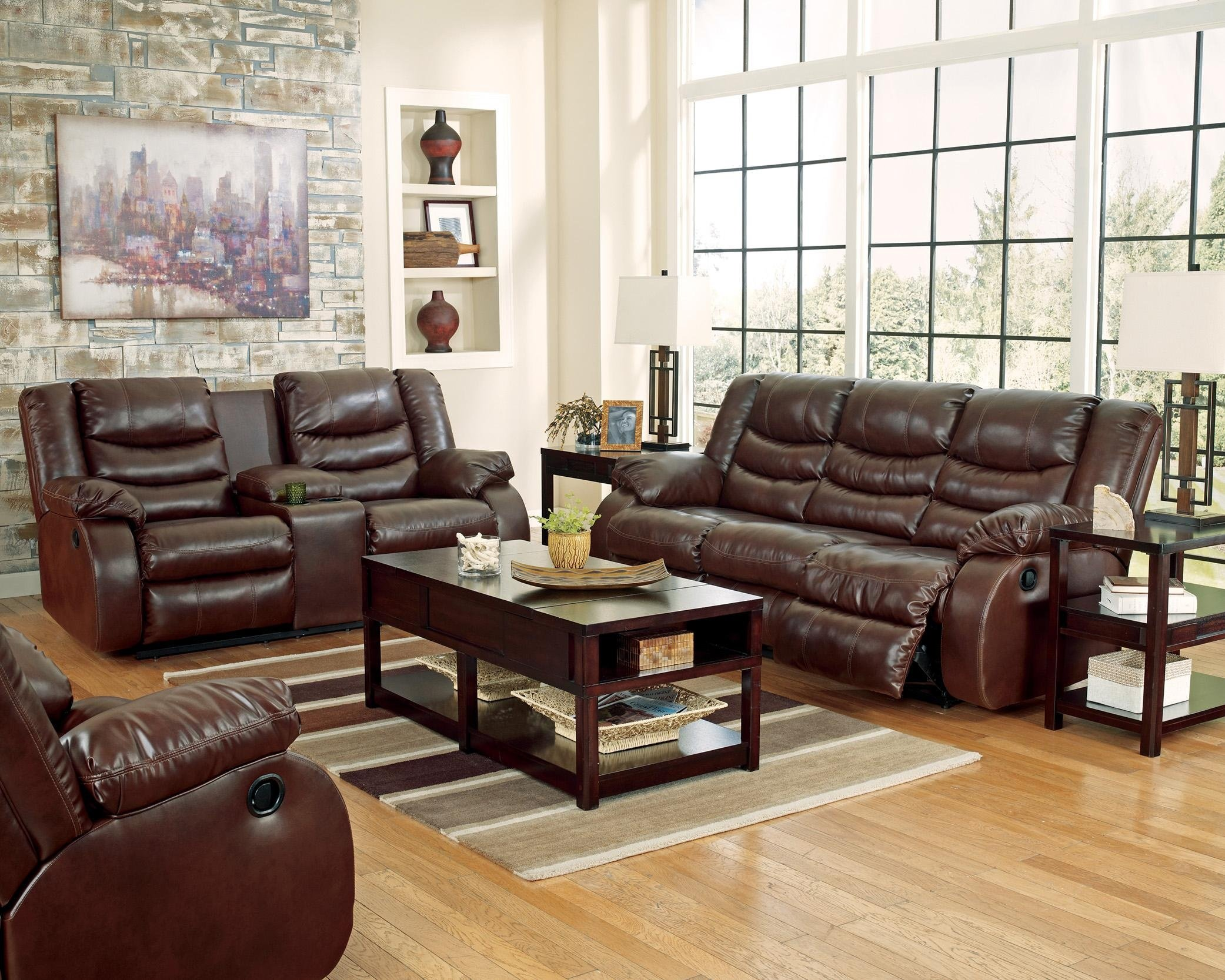 952-01 Linebacker Sofa & Loveseat Set (Also available in Black)