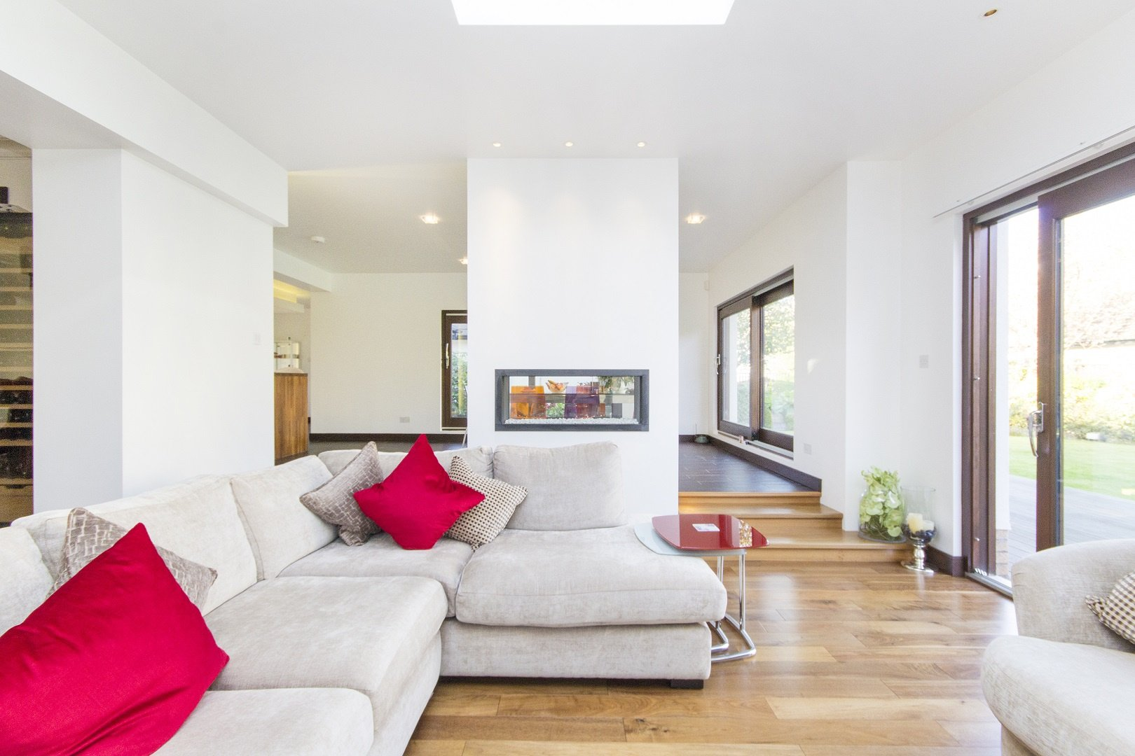 Living room within extension