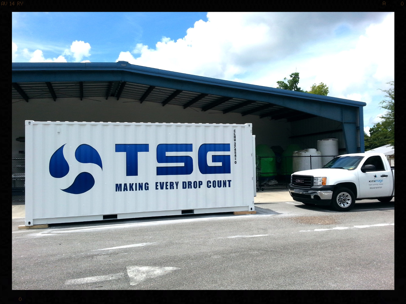 Digital print graphics on shipping container Gainesville, Florida