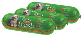 Rolls of Deli Fresh pet food||||