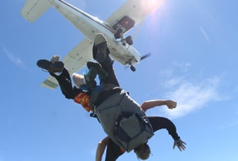 Backward Skydiving