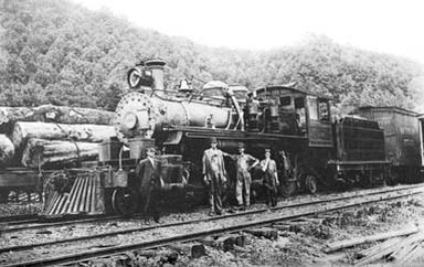"""The First 2-4-4-2 Articulated:     Working with the Baldwin Locomotive Works in Philadelphia, the Little River created the first 2-4-4-2 articulated steam locomotive, which came to be known as the """"Little River"""" type."""