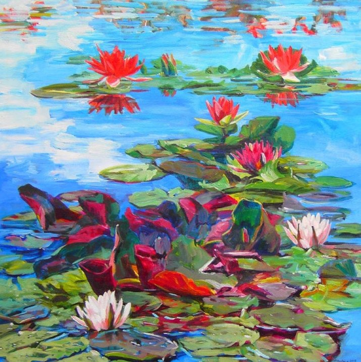 Waterlilies 24x24