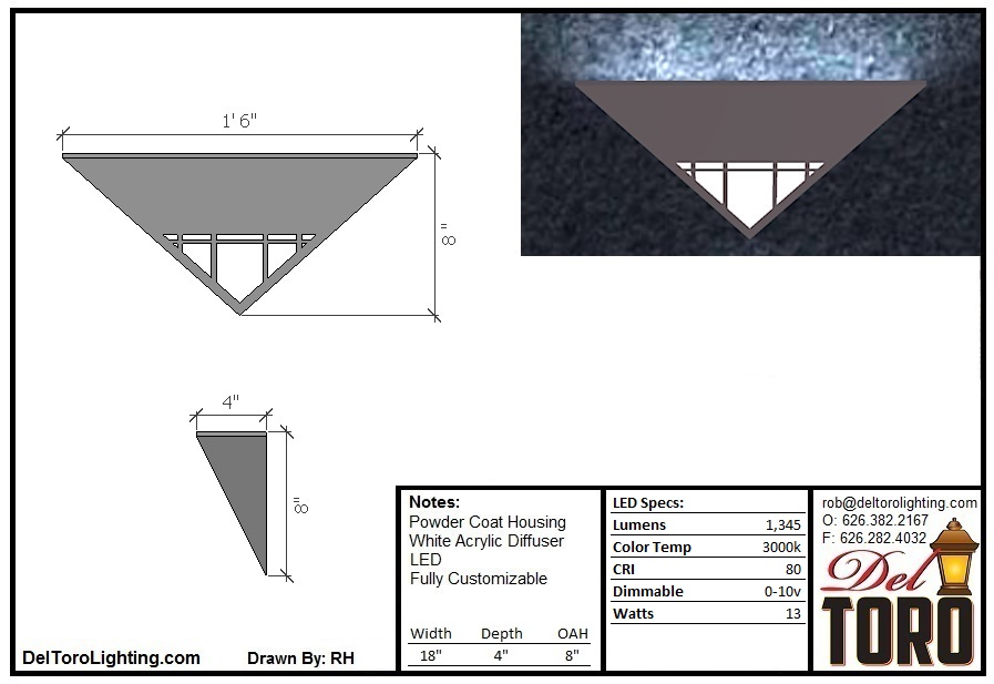 910W-Framed Pyramid Wall Sconce