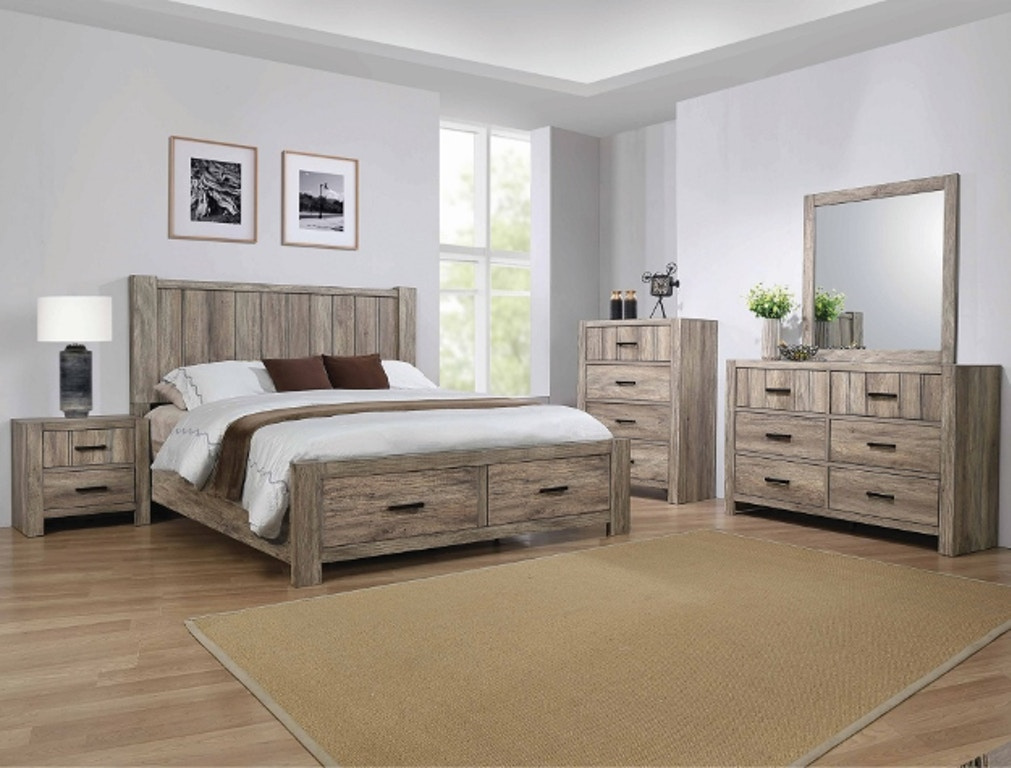 B8295 Bedroom Set Natural Finish