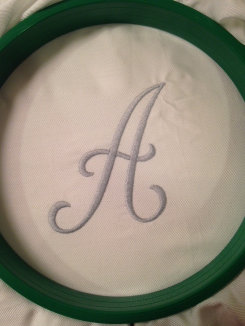 "Embroidered ""A"""