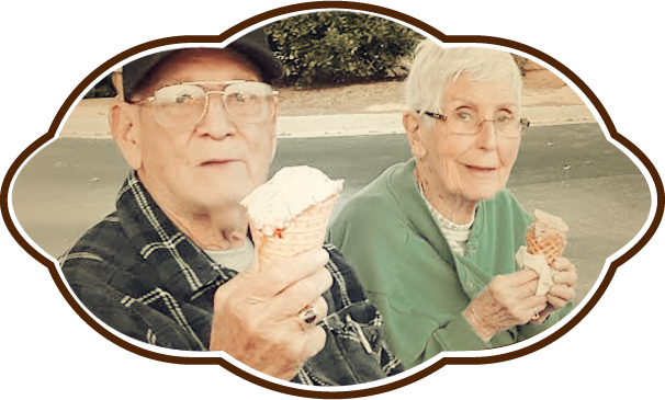 Seniors Eating Ice Cream