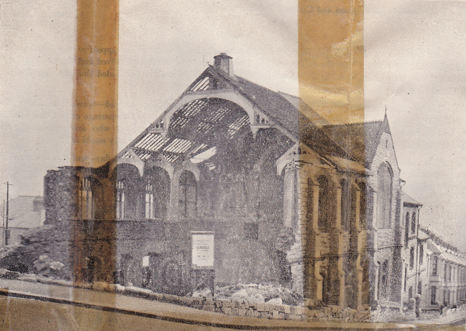 The Church After Being Hit by a Bomb in 1943