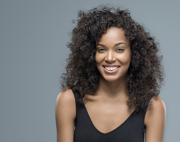 Woman with nice hairstyle