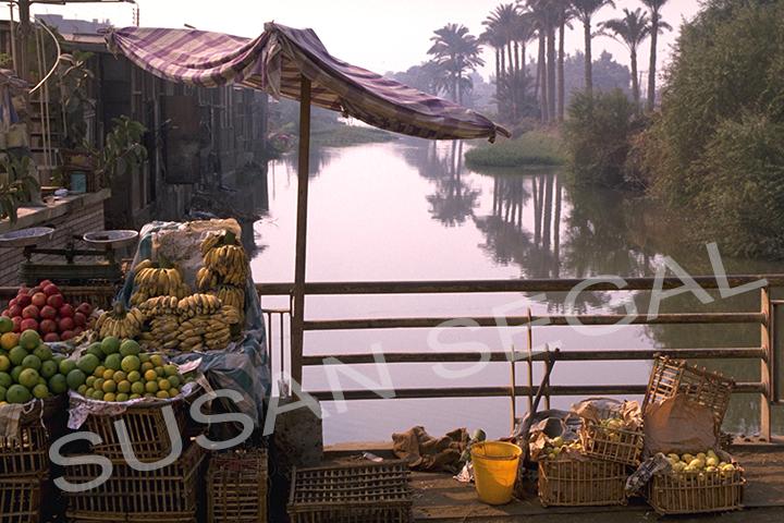Market along the Nile River - Egypt