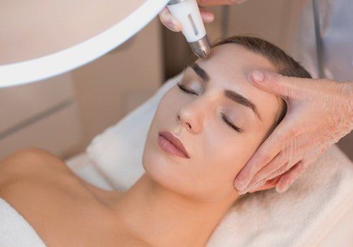 Female Face Having Laser Rejuvenating Treatment