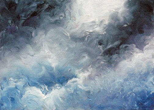 """Storm Clouds - 8""""x10"""" Oil on Stretched Canvas  SOLD"""