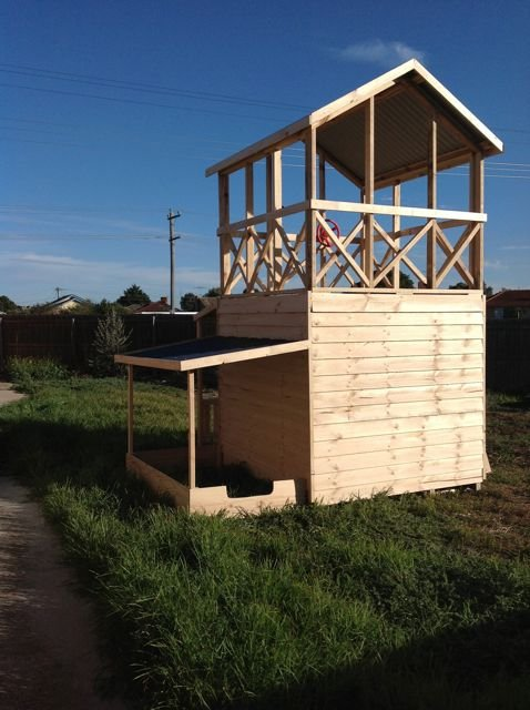 Add a Shelter-Shed to store toys...
