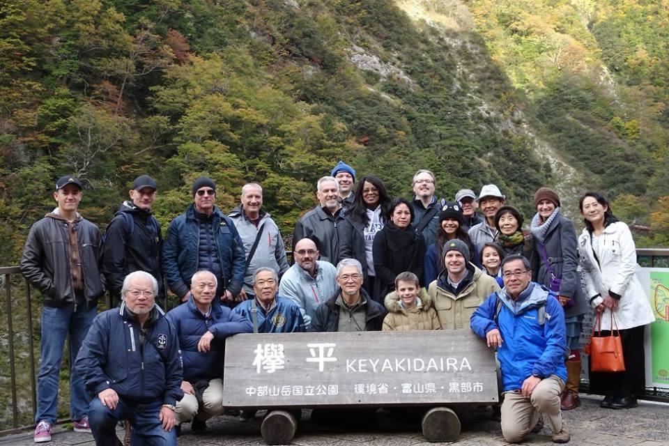 Bus trip - Keyakidaira gorge - group photo.