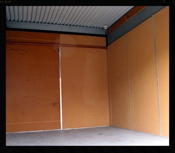 drive up storage unit inside view