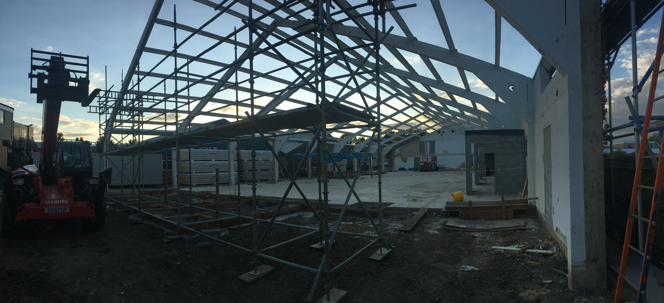 scaffold on Atcost portal frame