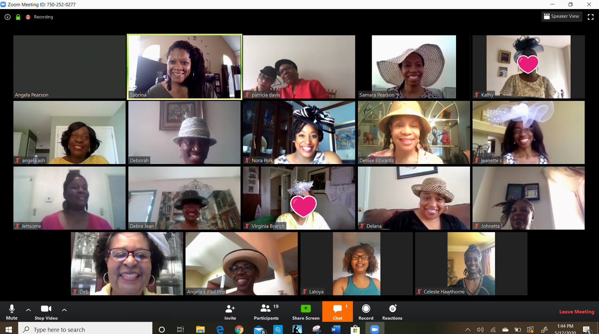 May 2020 - Virtual Hattitude Lunch