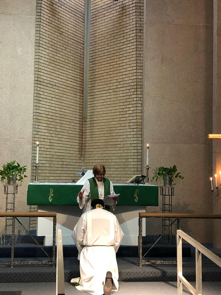Pastor Luis Echandia's installation