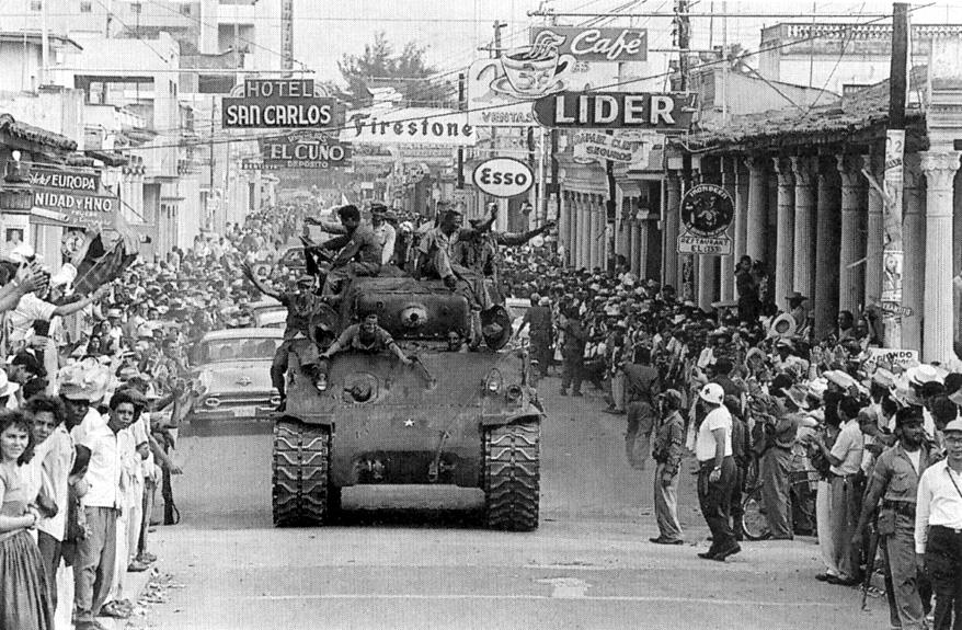 Fidel Castro and his troops ride into Havana