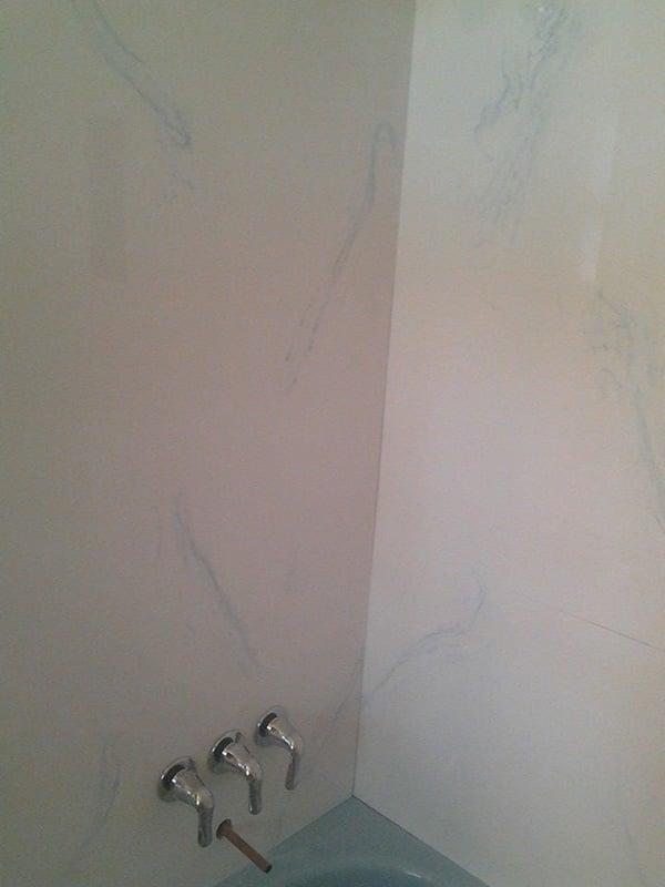 Faucets on bathroom walls