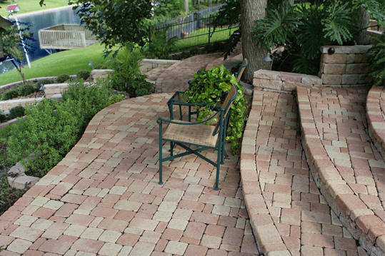 Pavestone steps and walkway
