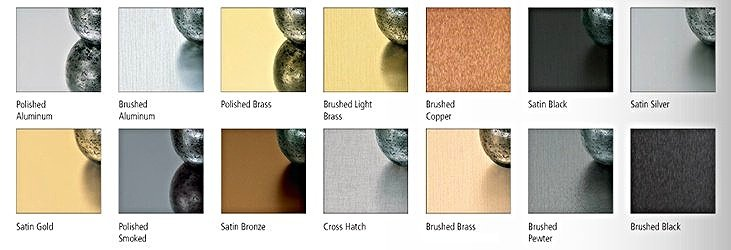 Metal Finish Options