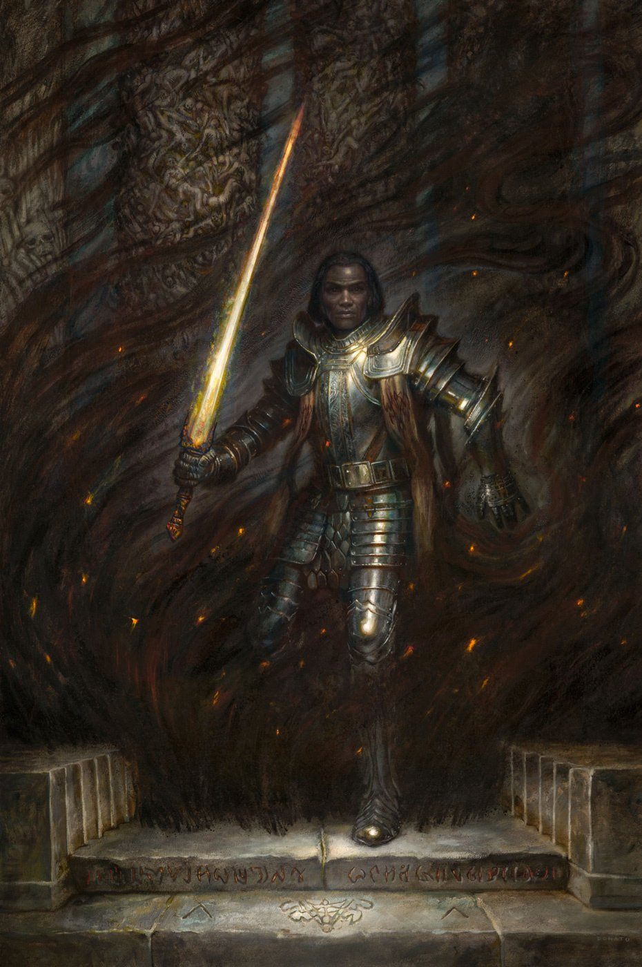 "The Herald Taln from Brandon Sanderson's Stormlight Archives 36"" x 24""  oil on Panel 2019 Collection of Brandon Sanderson prints available in the store"