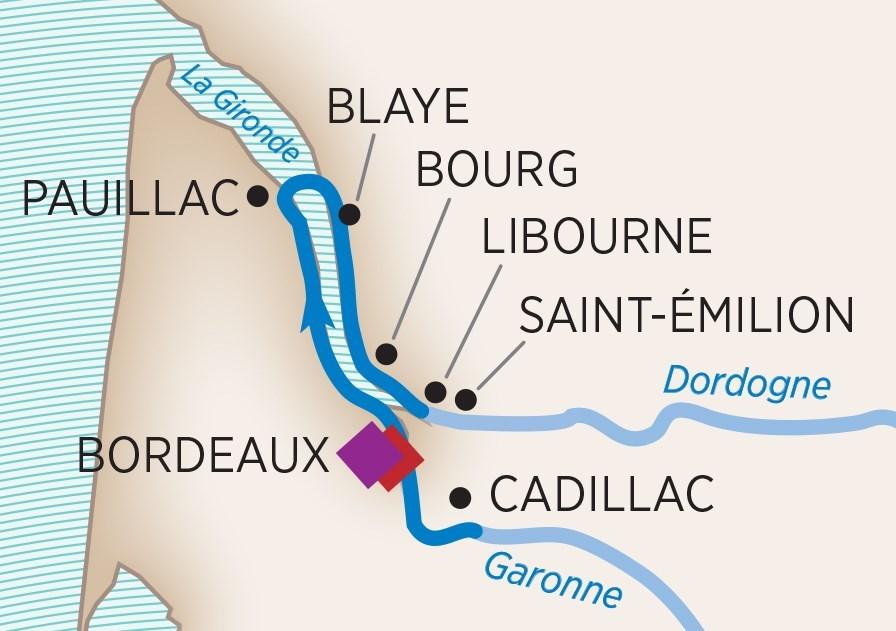 AMA Waterways Cruise Map - Group Trek Travel