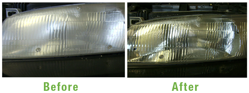 Headlights Repair Before and After