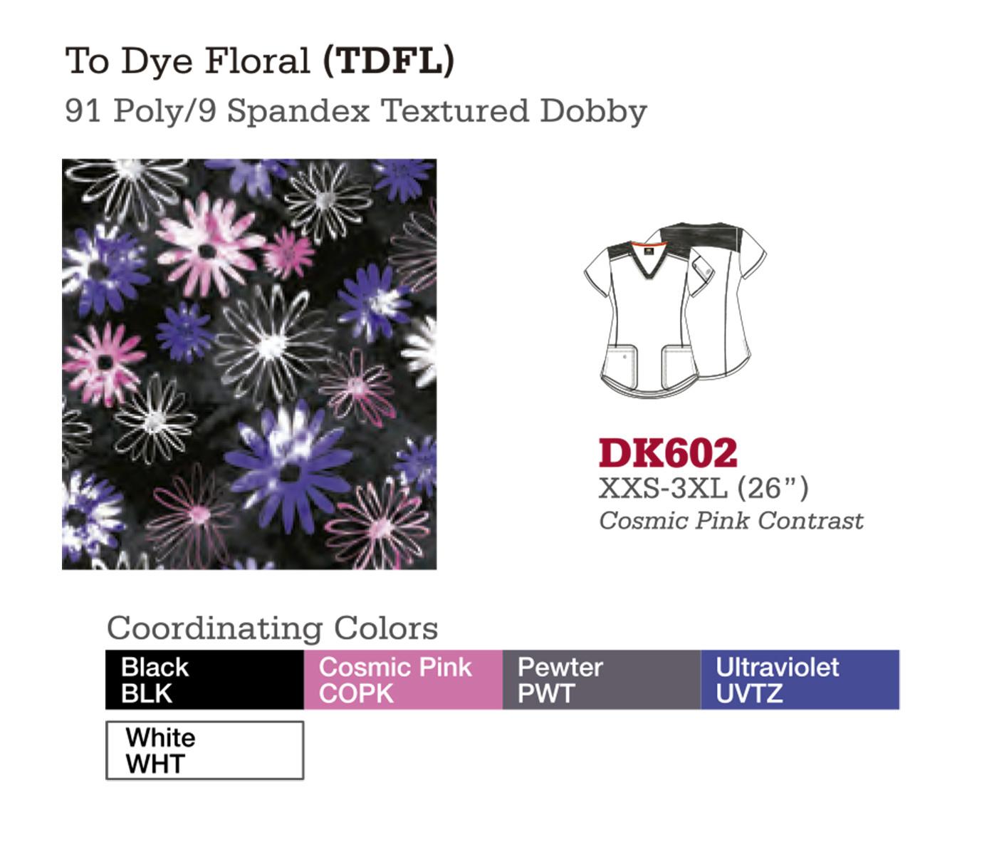 To Dye Floral. DK602.