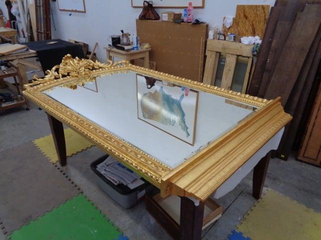 Restored Gilded Mirror