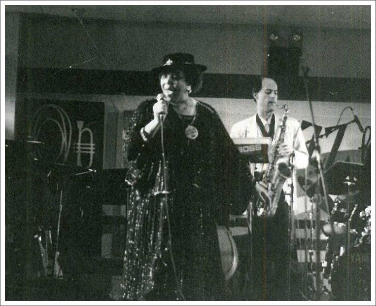 Margie performing at jazz festival    