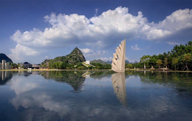 Flight on the Water- granite- Yuzi Paradise- Guilin-China