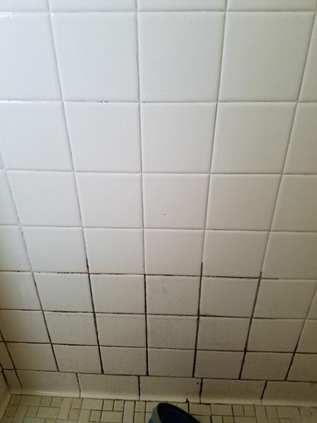 Cleaned bathroom tiles