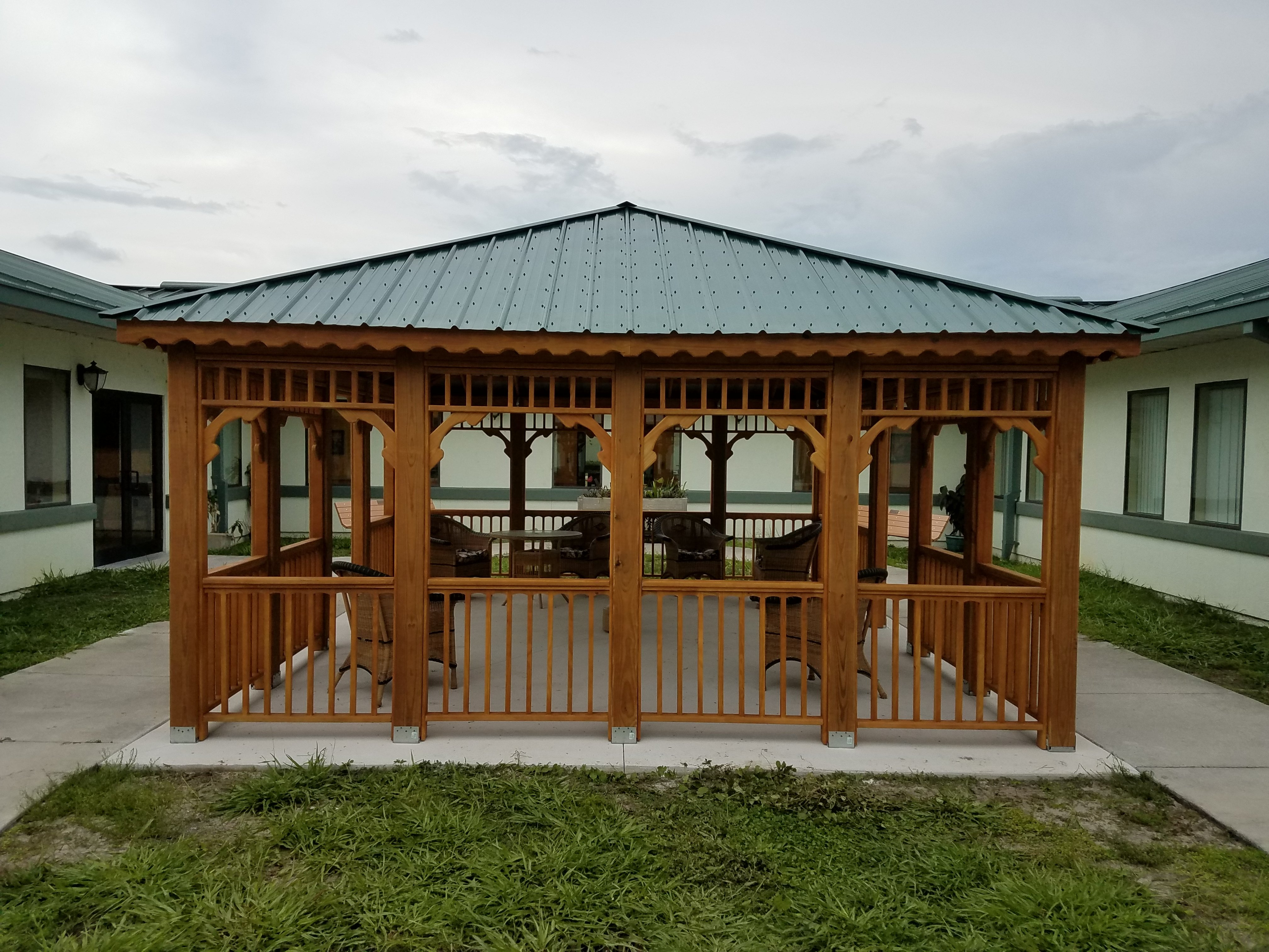 16x20 Hip Roof Pavilion at Moosehaven, Orange Park Florida