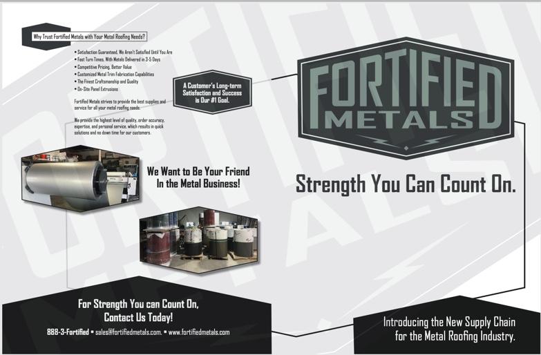 Fortified Metals Brochure Design Covers