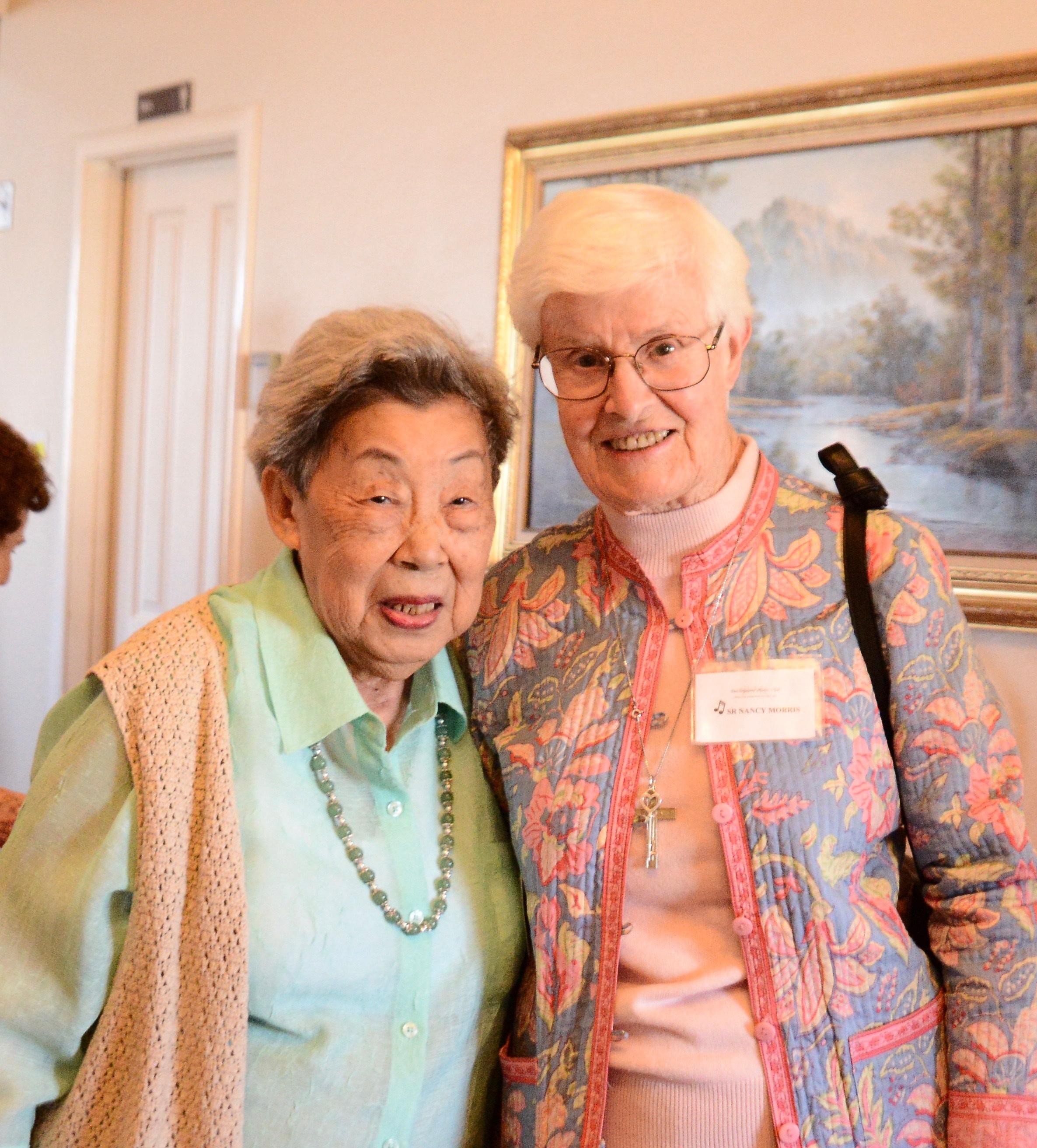 Roz Koo with Sister Nancy Morris
