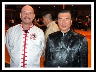 Stephen Mund With Grand Master Wong.