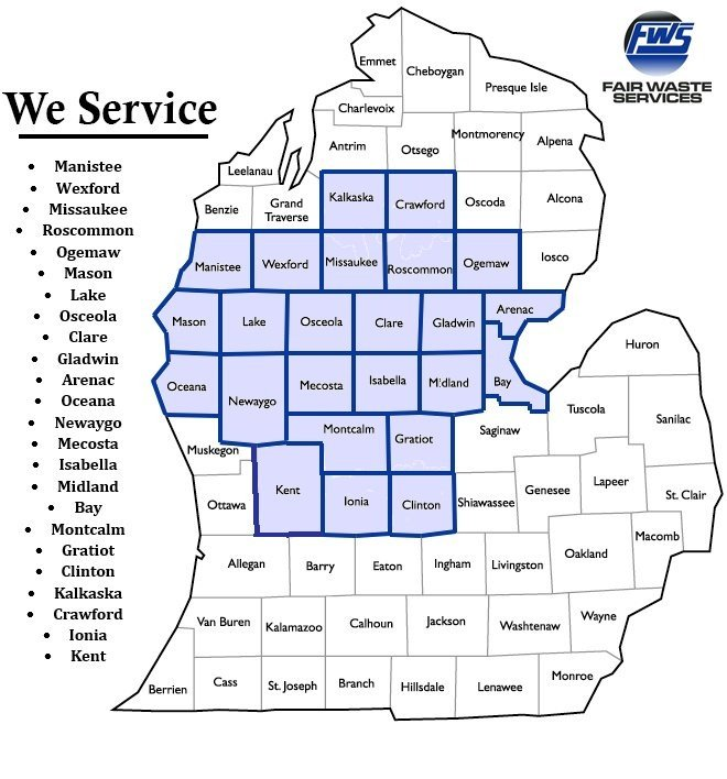 waste services in clare, mi