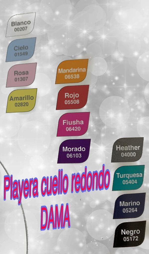 CLORES PLAYERA CUELLO REDONDO DAMA