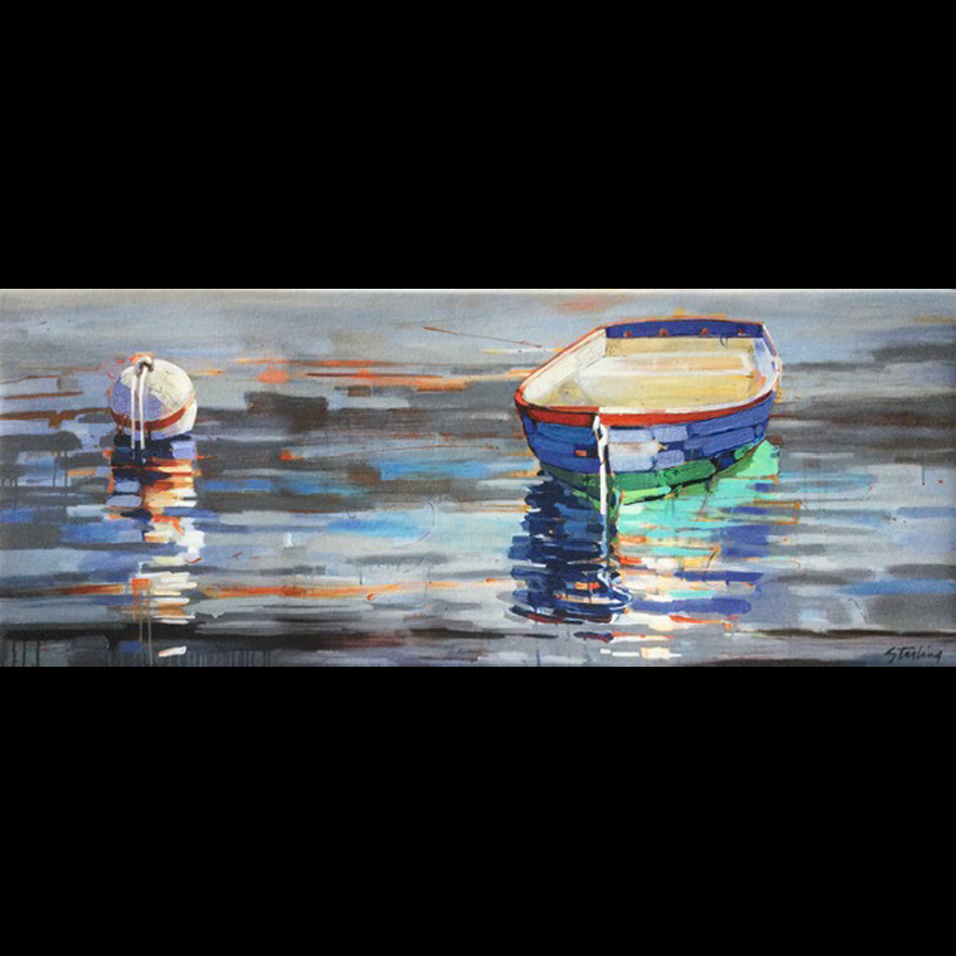 Quiet Time 12x30 giclee on canvas $230