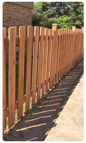 Spaced Wooden Fence