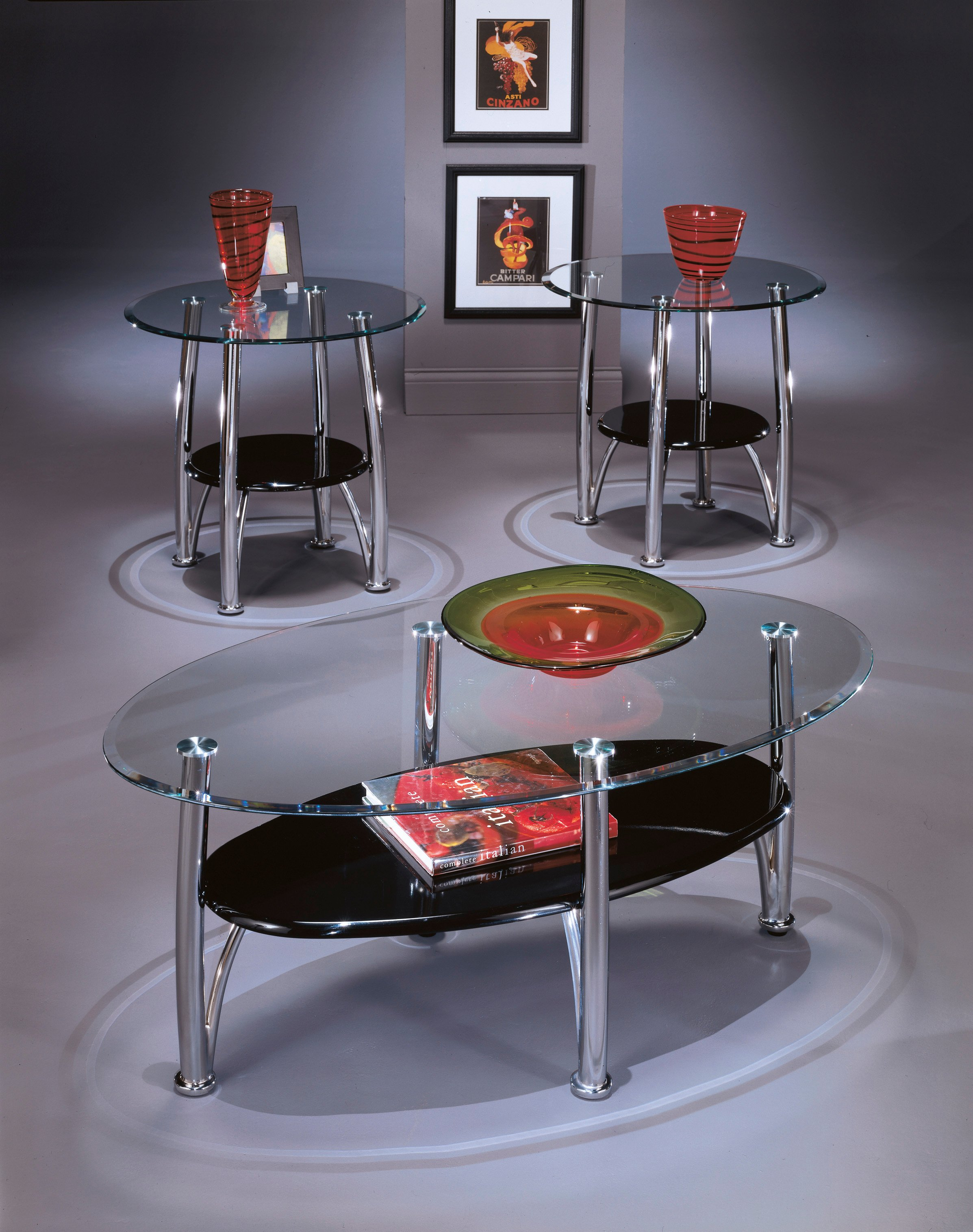 Dempsey 3pc Occasional Table Set